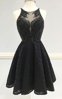 Black Round Neck Homecoming Dress,Sexy Prom Dress,A-Line Homecoming