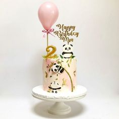 50 Most Beautiful looking Panda Cake Design that you can make or get it made on the coming birthday. Cake Designs For Kids, Cake Designs Images, Cool Cake Designs, Panda Birthday Cake, Happy 2nd Birthday, Bolo Panda, Panda Cakes, Animal Cakes, Dream Cake