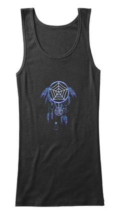 Dream Catcher,Casual Clothing Black Tank Top Front