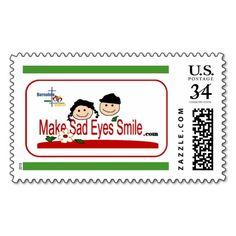 A Stamp of Make Sad Eyes Smile
