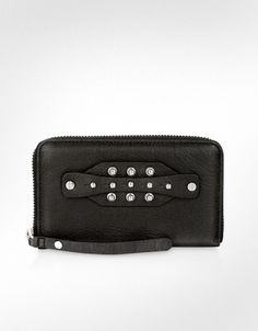 McQ Alexander McQueen McQ - Collar Stud Zip Around Wallet