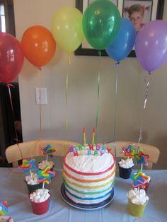 """Julianne's Rainbow Birthday Party"""