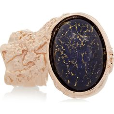 Saint Laurent Arty rose gold-plated glass ring ($290) ❤ liked on Polyvore