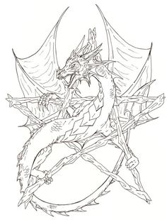 Wiccan Coloring Pages | Pentagram Coloring Pages Picture