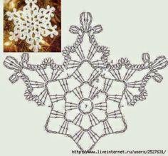 Uncinetto e crochet: Tanti bianchi fiocchi di neve all'uncinetto