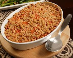 Sweet Potato Purée with Streusel Topping Recipe  | Epicurious.com