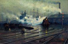 Lionel Walden, Cardiff Docks, 1894, oil on canvas,  Musée d'Orsay