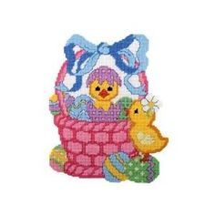 Craftways Easter Chicks Plastic Canvas Plastic Canvas Kit