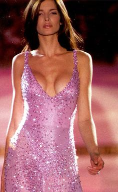Stephanie Seymour for Gianni Versace #90s supermodel