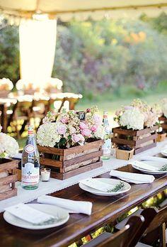 Centros de mesa para boda con velas sumamente originales: el estilo rústico está de moda