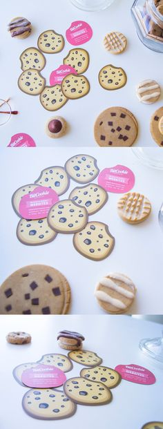 Sweet Custom Die Cut Cookie Shaped Business Card For A Web Designer