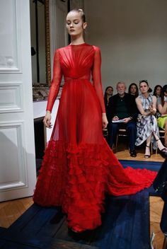 Valentino Haute Couture Fall/Winter 2012 Red Dress