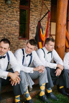 socks! #navywedding #yellowwedding #weddingchicks http://www.weddingchicks.com/2013/12/26/navy-and-yellow-wedding-2/