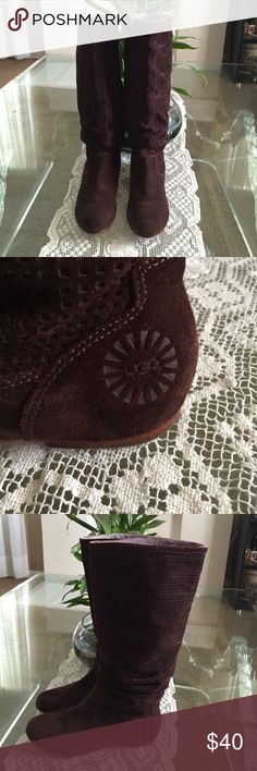 ABILENE UGG BOOTS Good condition!!!Without the box. is a fashionable and comfortable slouchy suede flat casual pull on boot with a round toe. UGG Shoes Winter & Rain Boots