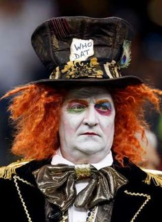 New Orleans Saints fans are seen in costume - cool makeup idea for Halloween costume