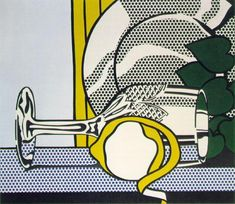 Still Life With Glass And Peeled Lemon, Roy Lichtenstein