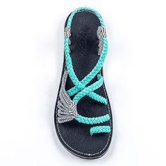 ae8e29743839b5 Palm Leaf Turquoise-Zebra – Plaka Sandals. Flat Sandals