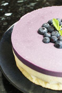 Blueberry Lemon Mousse Cake