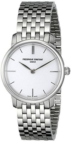 Frederique Constant Womens FC200S1S36B Slim Line Analog Display Swiss Quartz Silver Watch >>> To view further for this item, visit the image link.Note:It is affiliate link to Amazon.