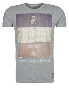 Jack & Jones - HAIL - T-shirt imprimé - gris