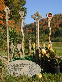 Celtic Garden Spirit Sticks - These are pretty cool. I might do something like this if I had a yard of my own.