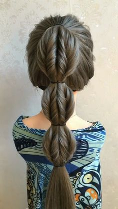 Hairdo For Long Hair, Easy Hairstyles For Long Hair, Braided Hairstyles, Black Hair Video, Long Hair Video, Hair Up Styles, Medium Hair Styles, Hair Style Vedio, Hair Videos