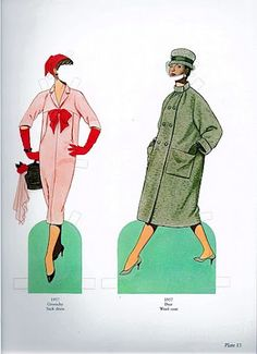 Great Fashion Designs of the Fifties   Gabi's Paper Dolls