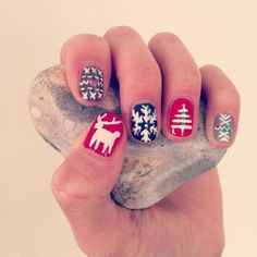christmas nail art | Tumblr