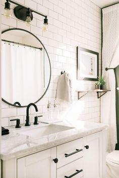#Elsiesnashvillebnb Bathroom Tour (Before + After) Budget Bathroom, Bathroom Renovations, Bathroom Interior, Bathroom Ideas, Bathroom Organization, Bathroom Makeovers, Remodel Bathroom, Bathroom Designs, Bathroom Inspiration