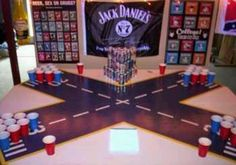 Four way beer pong :)