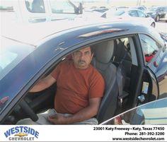 #HappyAnniversary to Santiago M Hernandez on your 2013 #Chevrolet #Camaro from Arturo Urquiola  at Westside Chevrolet!