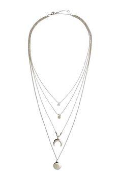 Колье в несколько рядов - Серебристый - Женщины | H&M RU 1
