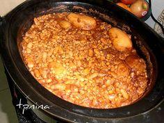 חמין בסיר בישול איטי - סבתא מבשלת וגם...סורגת - תפוז בלוגים