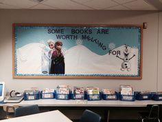 frozen bulliten boards | Frozen Bulletin Board. Some books are worth melting for. Olaf, Anna ...