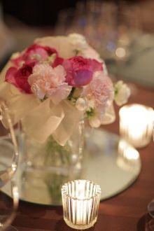 Pink table flower *イブピアッチェ *スプレーウィットカーネーション