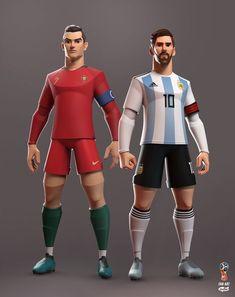 Messi Vs Ronaldo, Cristiano Ronaldo Juventus, 3d Model Character, Character Modeling, Messi And Ronaldo Wallpaper, Zbrush, Sporting, Character Design Animation, Cool Sketches