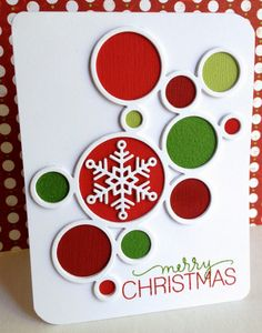Merry Christmas by Lisa Addesa - using Simon Says Stamp Ring Frames die