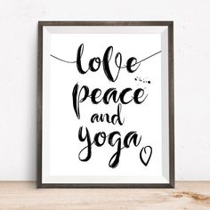 Yoga Wall Print Yoga Poster Yoga Printable Yoga Gifts by OjuDesign