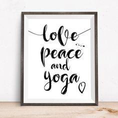 Yoga Wall Print Yoga Poster Yoga Printable Yoga Gifts by OjuDesign