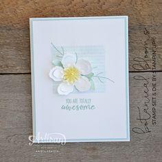 Stampin' Dolce: A simple single flower card with Stampin' Up! Botanical Builder Die- Artisan Design Team Blog Hop