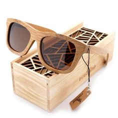 9a210009b6 BOBO BIRD 6 color Polarized Bamboo Wood Sunglasses Women Men Mirror Coating Lenses  Eyewear with Gift Wooden Box Vintage 2017