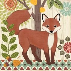 Woodland Friends-Fox by Jennifer Brinley | Ruth Levison Design