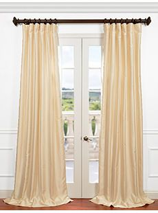 Solid Faux Silk Curtains and Drapes at HalfPriceDrapes