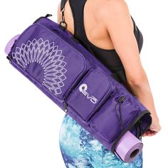 65ad1d062f75 Yoga EVO Yoga Bag for Women - Large Yoga Duffle Bag for Mat and Towel with Adjustable  Strap. ALL YOUR YOGA GEAR IN ONE PLACE - With 3 foam protected ...