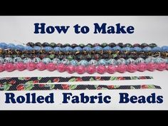 How to Make Rolled Fabric Beads Fabric Jewelry Tolles Tutorial! Paper Beads Tutorial, Paper Beads Template, Make Paper Beads, Paper Bead Jewelry, Fabric Jewelry, How To Make Beads, Bead Crafts, Jewelry Crafts, Diy Crafts