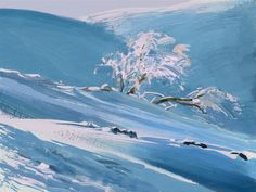 Winter Landscape, Tymoteusz Chliszcz on ArtStation at https://www.artstation.com/artwork/RG1wX