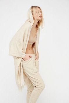 Womens KNUBBY HOODED KIMONO - Bohemian Summer Fashion Trend 2017