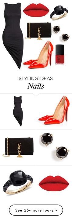 Без названия #89 by jujik85 on Polyvore featuring Kate Spade, Pomellato, Christian Louboutin, NARS Cosmetics, Yves Saint Laurent, women's clothing, women, female, woman and misses