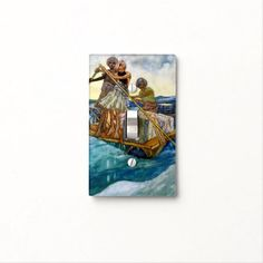"""""""Sinbad The Sailor"""" - Light Switch Cover"""