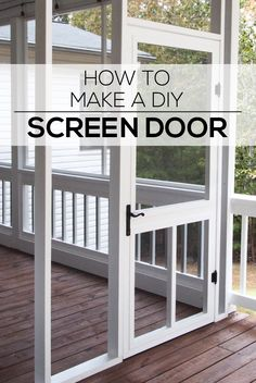 Woodworking Ebanisteria How to Make a DIY Screen Door - Woodshop Mike.Woodworking Ebanisteria How to Make a DIY Screen Door - Woodshop Mike Custom Screen Doors, Diy Screen Door, Screen House, Porch With Screen, Vintage Screen Doors, Screened In Porch Diy, Screened Porch Designs, Screened Porch Decorating, Enclosed Porches